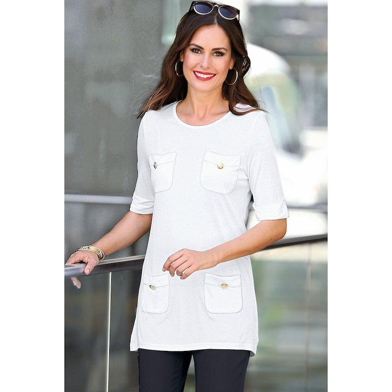 Camiseta manga corta mujer multibolsillos con botones