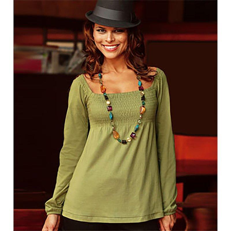 Camiseta mujer manga larga de algodón