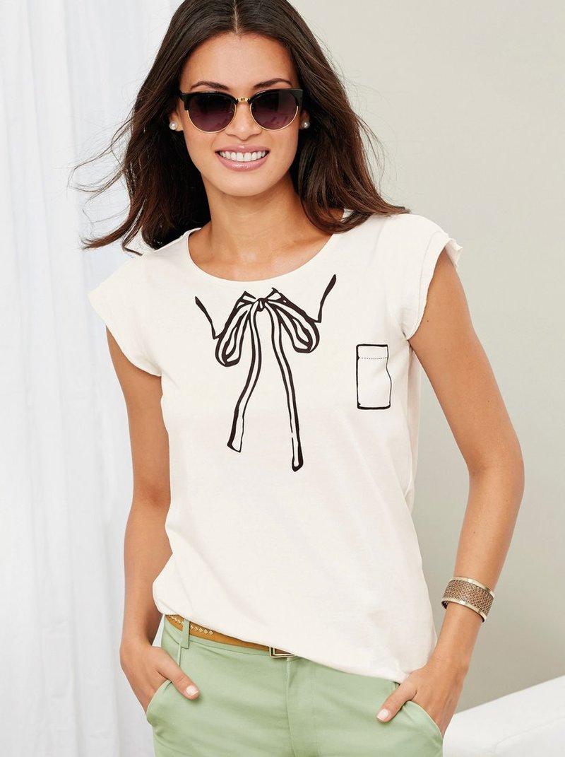 Camiseta de manga corta con original estampado