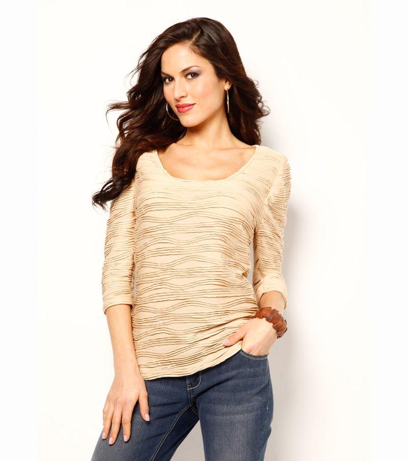 Camiseta mujer manga 3/4 punto flocado