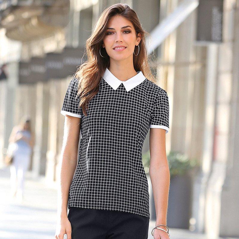 Camiseta polo con cuello y puños a contraste