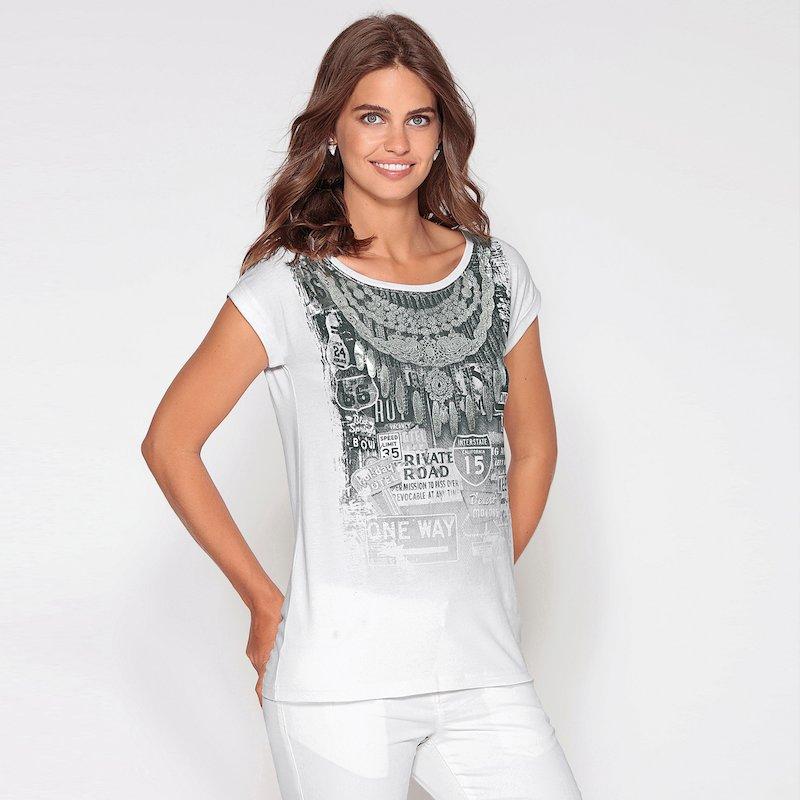 Camiseta mujer manga corta de algodón foil