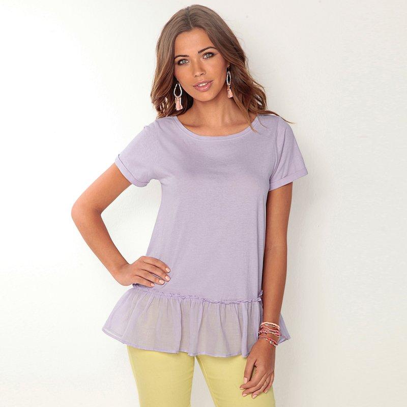 Camiseta mujer manga corta mujer de algodón