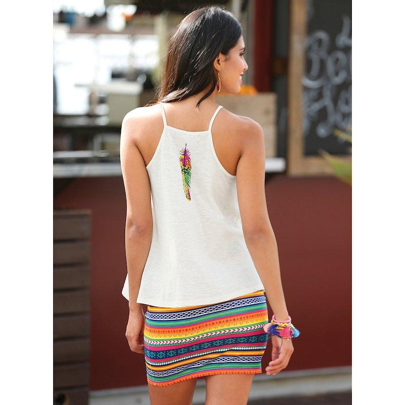 Camiseta mujer de finos tirantes en algodón