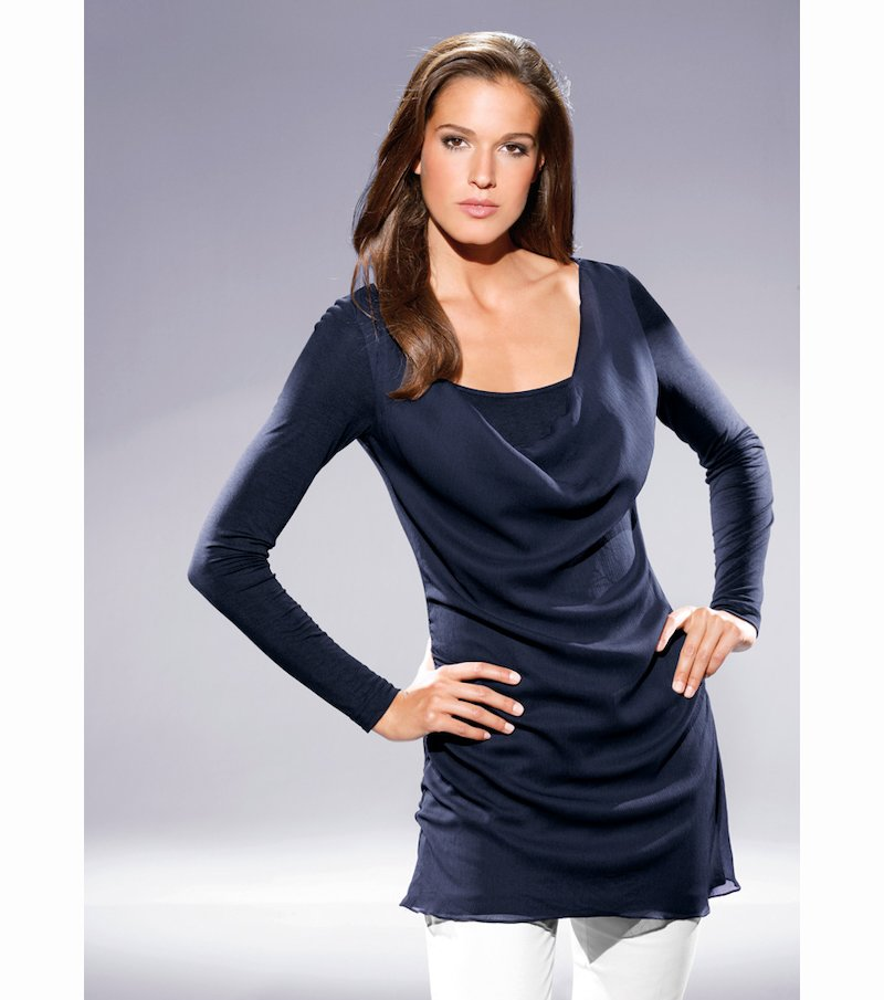 Camiseta túnica mujer manga larga