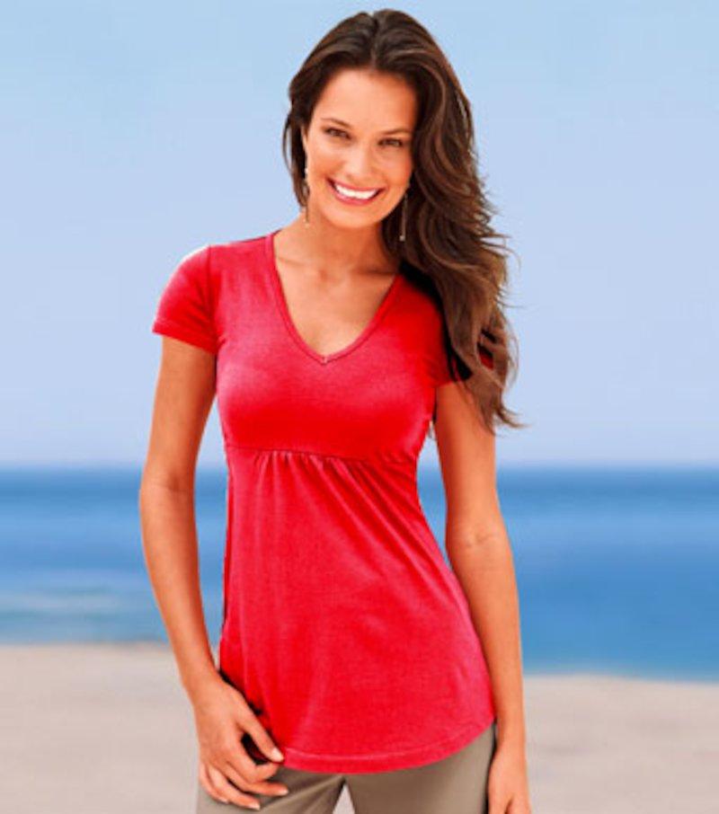 Camiseta mujer manga corta de algodón