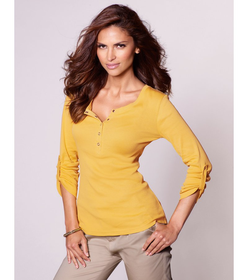 Camiseta mujer manga regulable