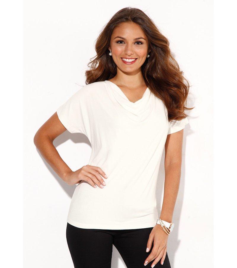 Camiseta mujer manga corta 100% viscosa