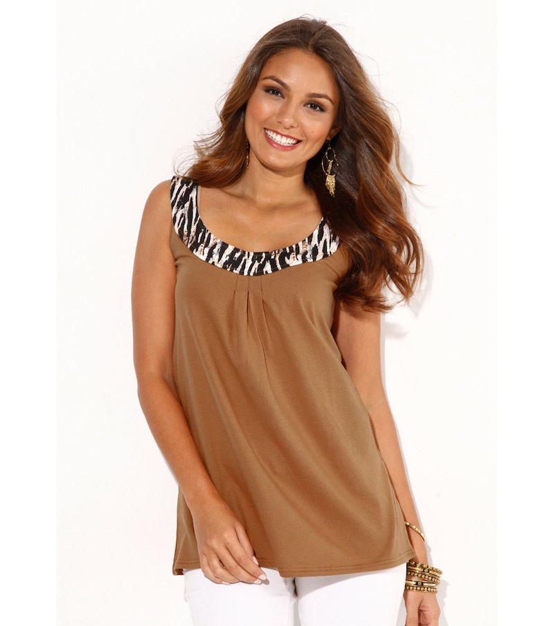 Camiseta mujer sin mangas pieza animal print