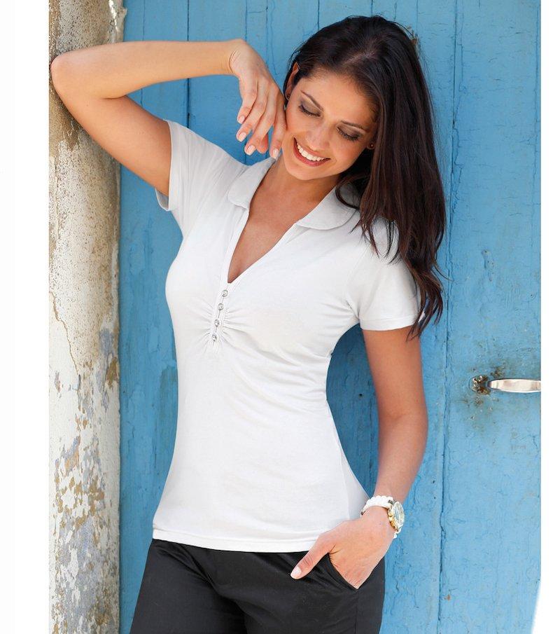 Camiseta polo mujer manga corta