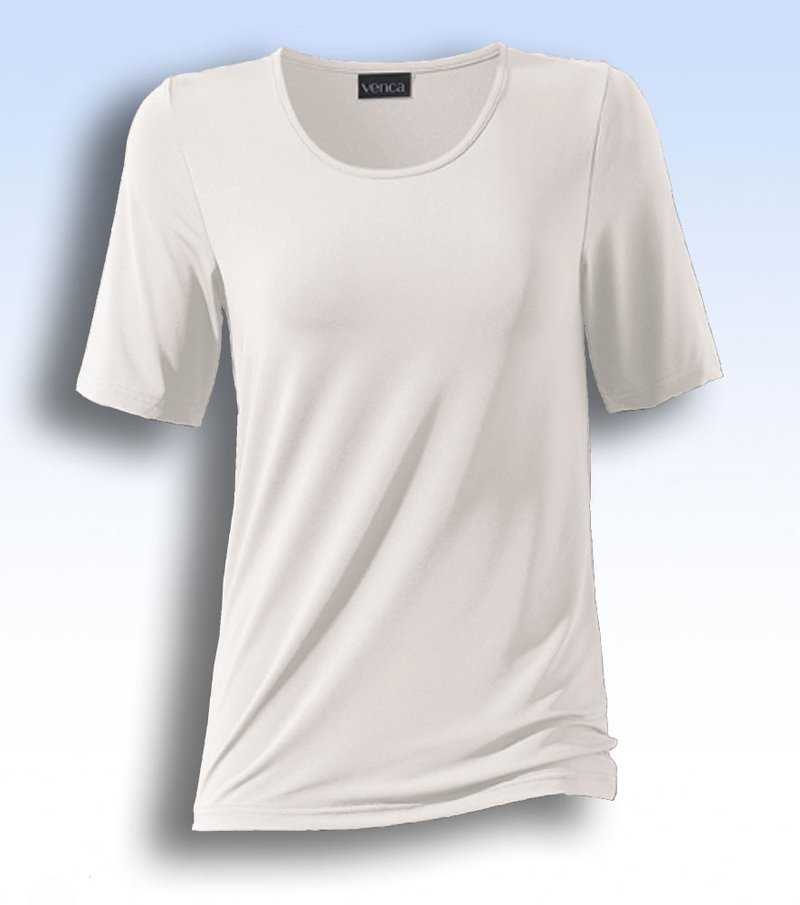 Camiseta manga corta de algodón escote redondo