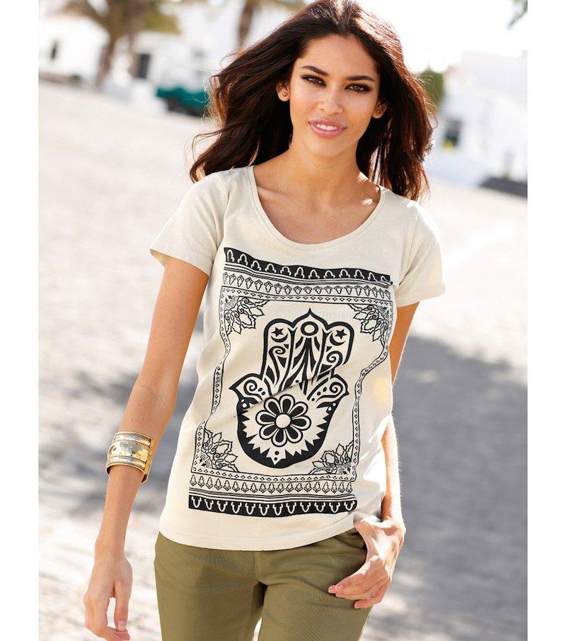 Camiseta mujer manga corta Mano de Fátima