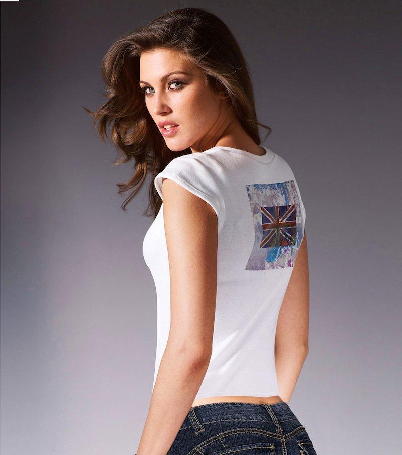 Camiseta mini manga mujer con estampado