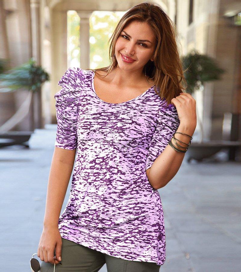 Camiseta mujer manga corta farol estampada