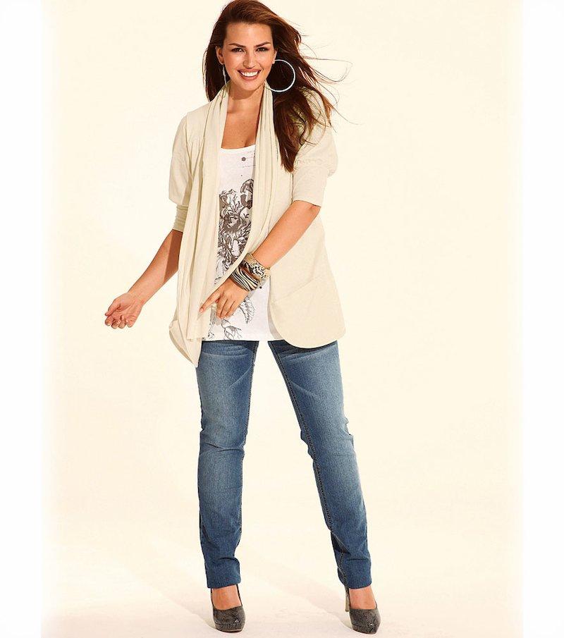 Chaqueta camiseta mujer manga corta efecto doble