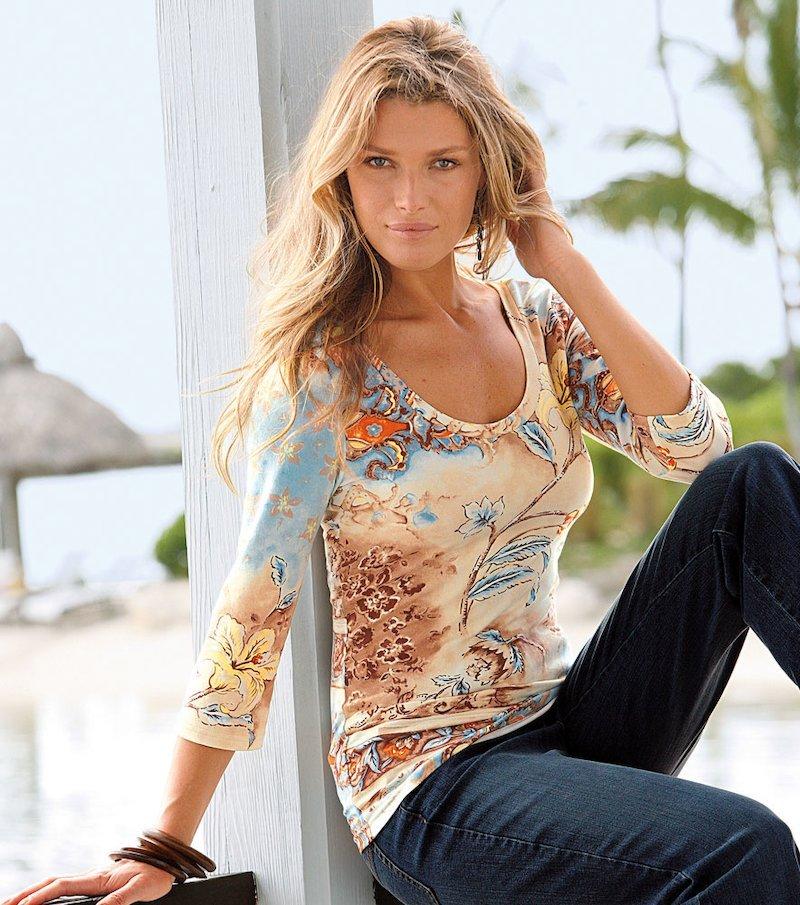 Camiseta mujer manga 3/4 estampado exclusivo