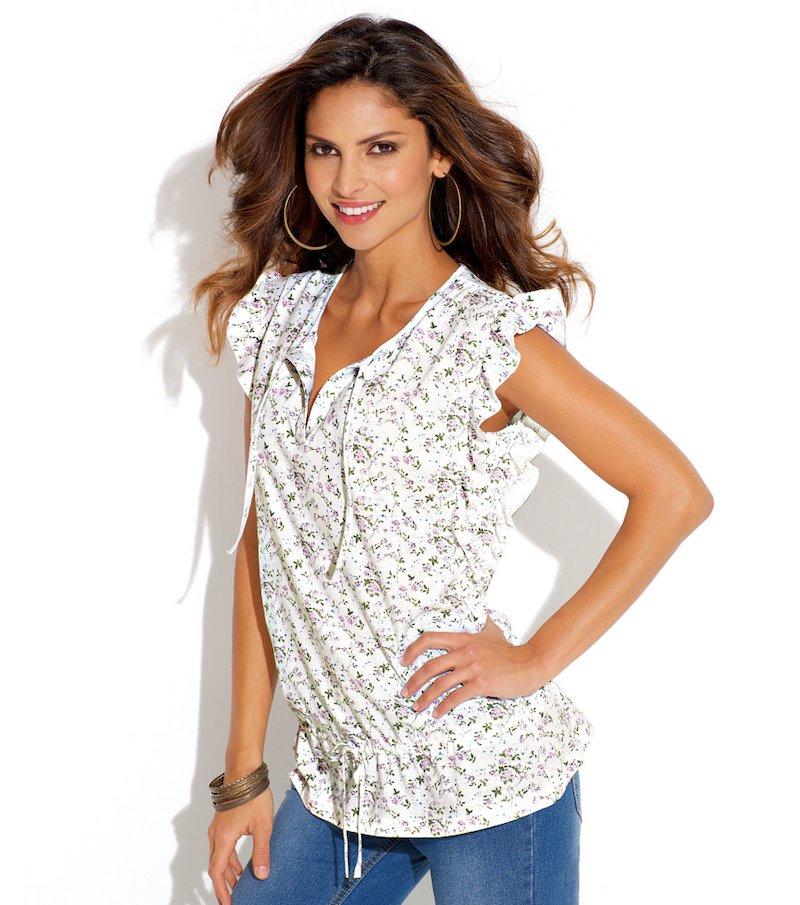 Camiseta mujer sin mangas 100% algodón - Blanco