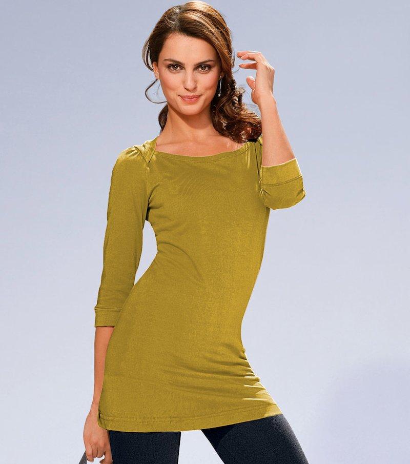 Camiseta mujer manga 3/4 - Amarillo