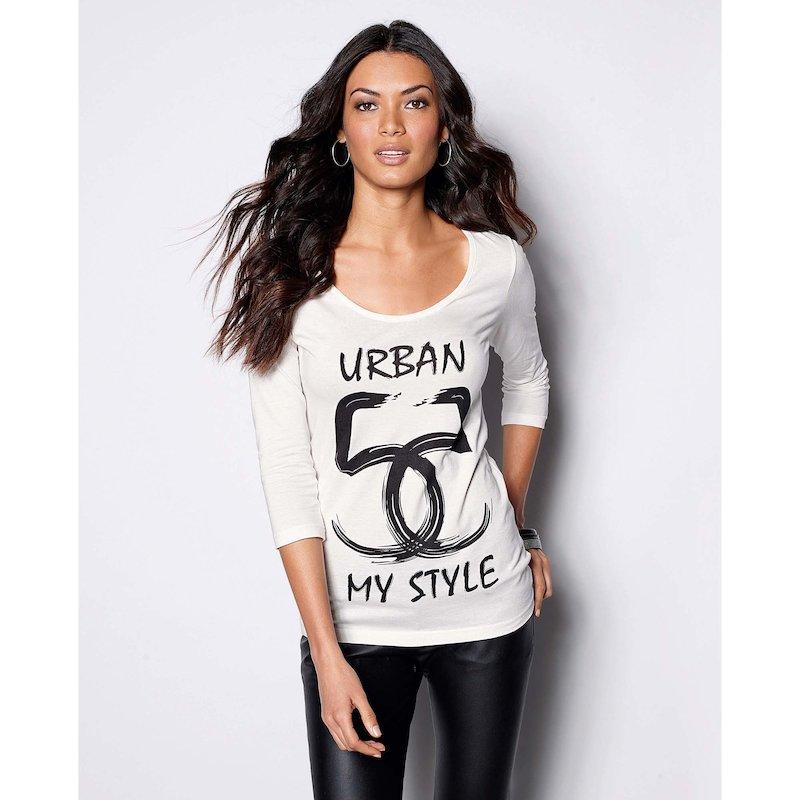 Camiseta mujer manga 3/4 estampada Urban