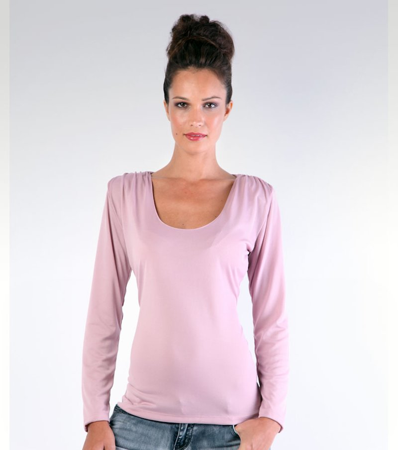 Camiseta mujer manga larga con hombreras