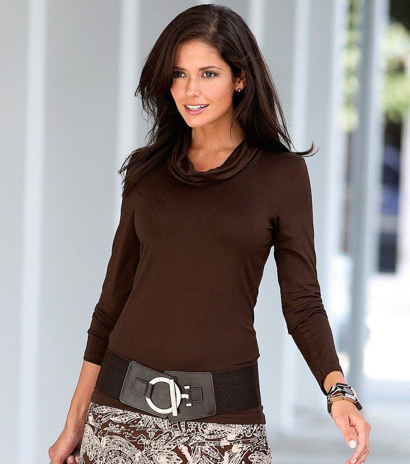 Camiseta mujer manga larga punto elástico