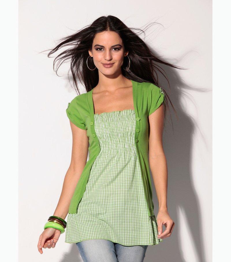Camiseta mujer efecto doble