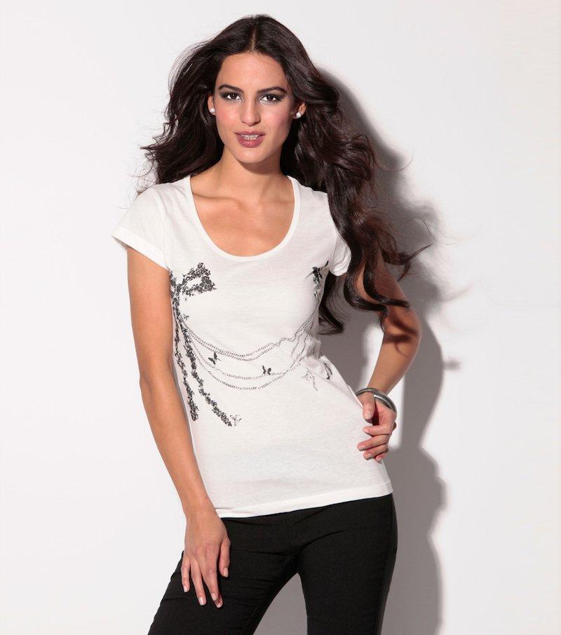 Camiseta manga corta estampada 100% algodón