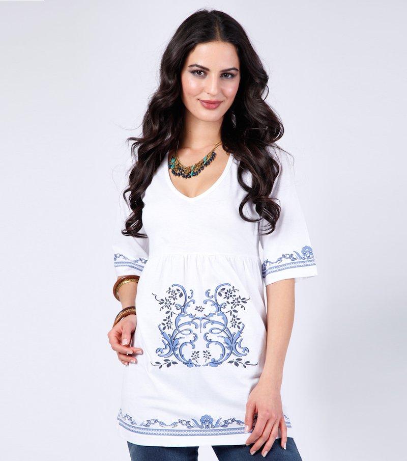 Camiseta mujer estampada 100% algodón