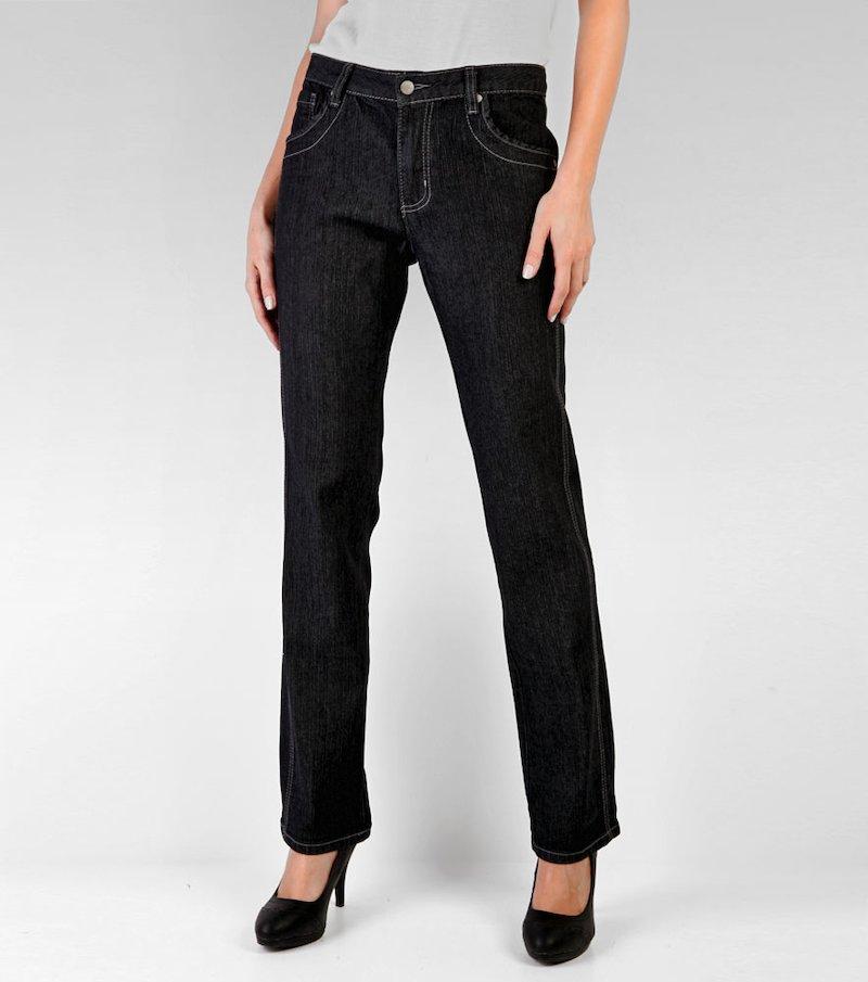 Pantalón largo vaquero jeans mujer de tiro alto - Azul