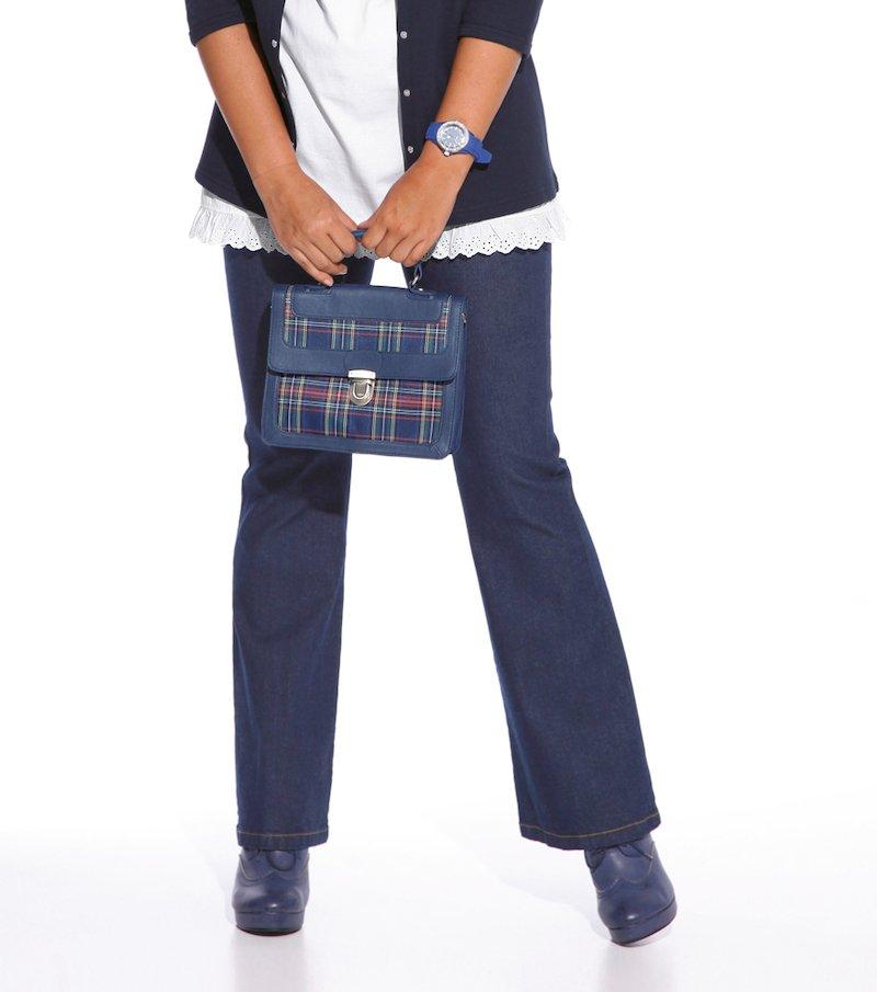Pantalón largo vaquero jeans mujer - Azul