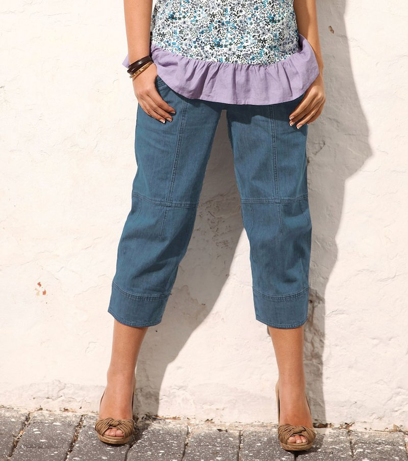 Pantalón vaquero jeans mujer corte pirata