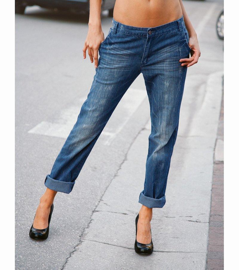 Pantalón jean vaquero mujer elástico