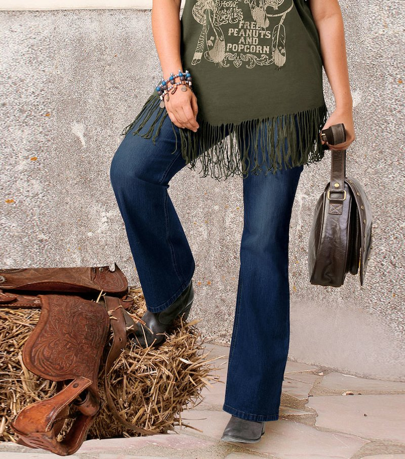 Pantalón jeans vaquero mujer 100% algodón - Azul