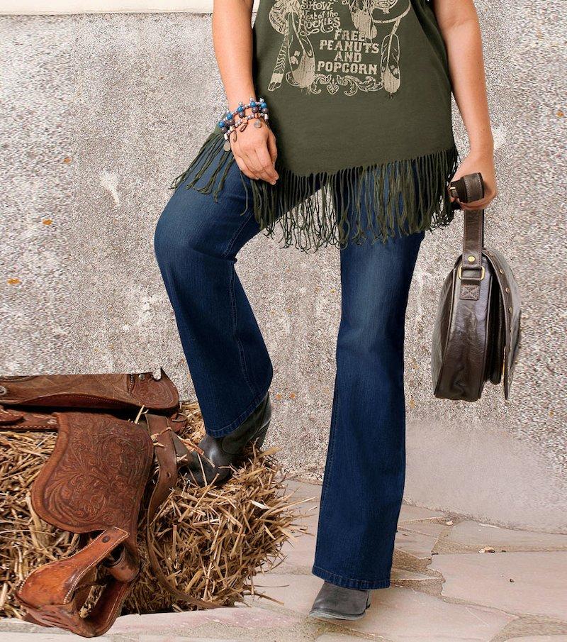 Pantalón jeans vaquero mujer 100% algodón
