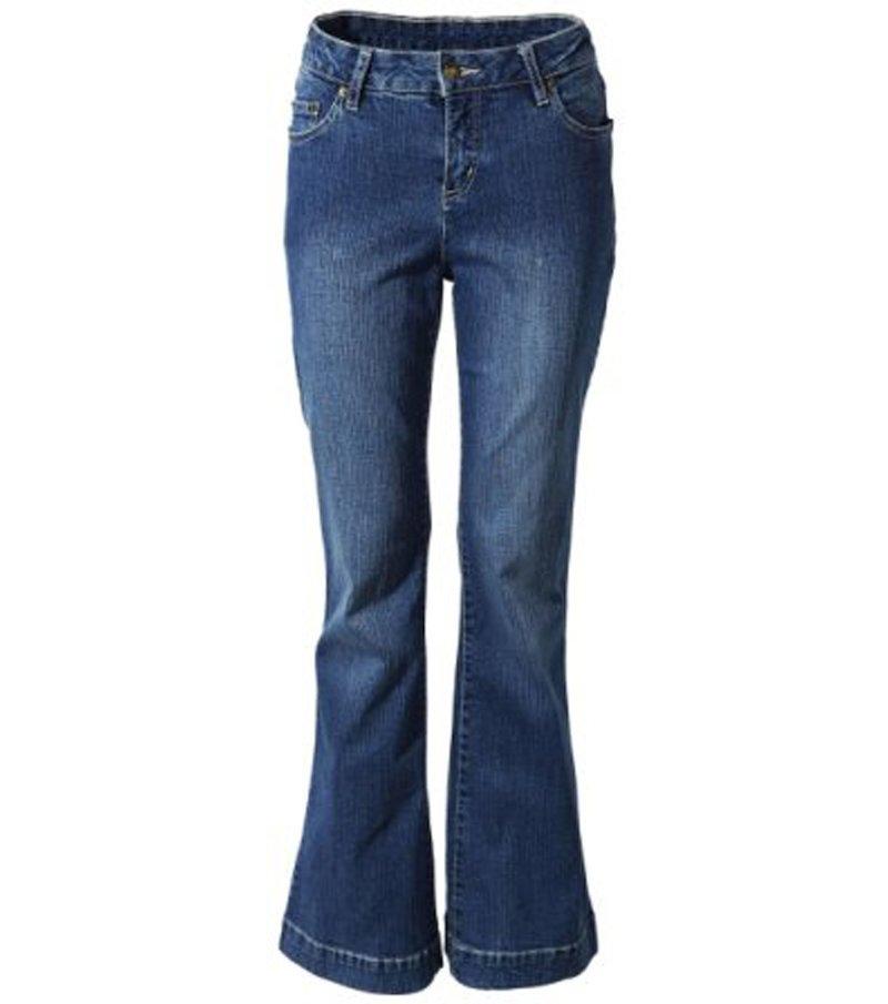 Pantalón vaquero mujer jeans acampanado - Azul