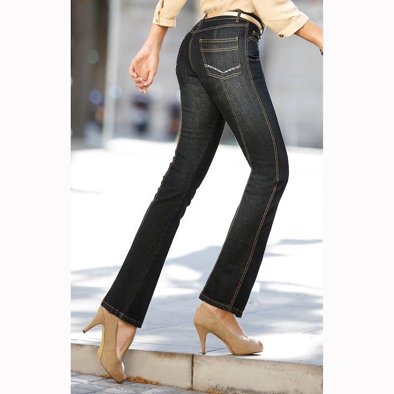 Pantalón vaquero jeans mujer tiro alto elástico