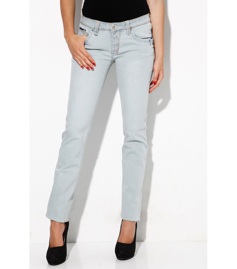 Pantalón vaquero jeans mujer con strass - Azul