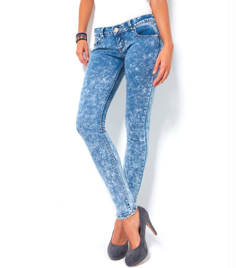 Pantalón vaquero jeans mujer lavado a la piedra