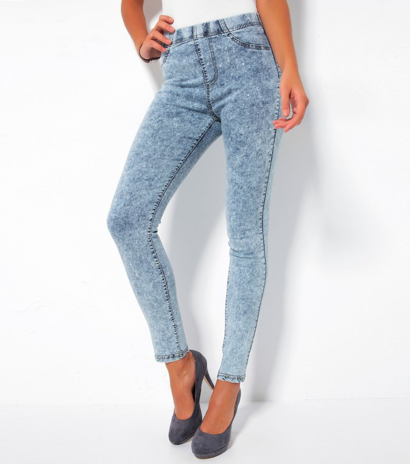 Pantalón largo vaquero jeans mujer desgastado