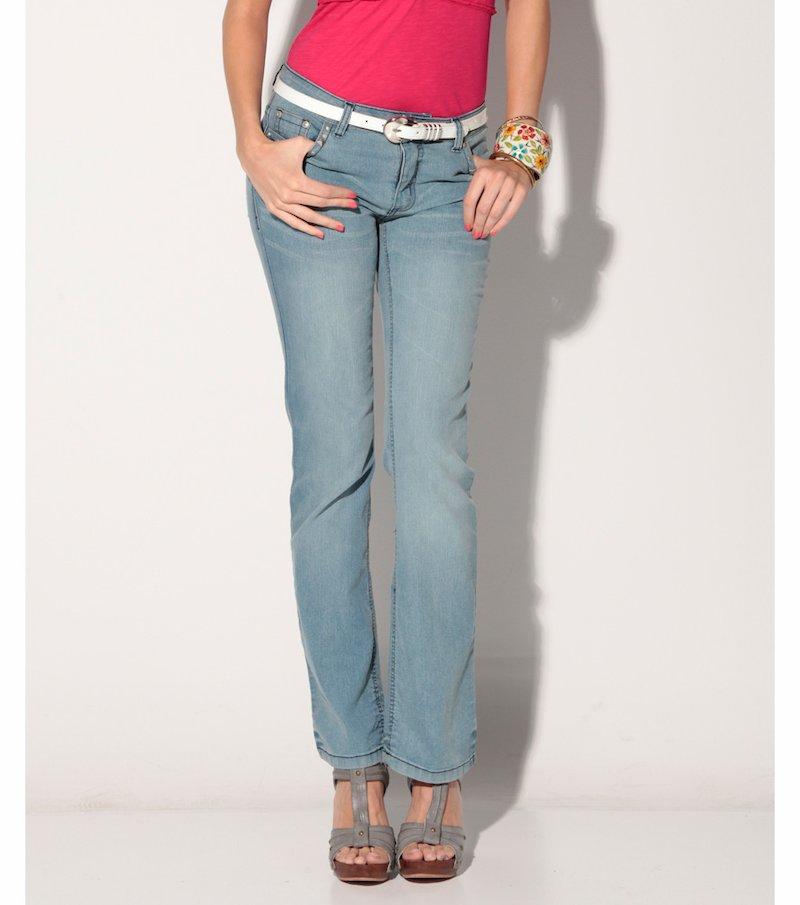 Pantalón largo vaquero jeans mujer elástico