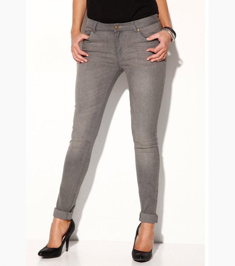 Pantalón vaquero mujer jeans tobillero tiro medio - Azul