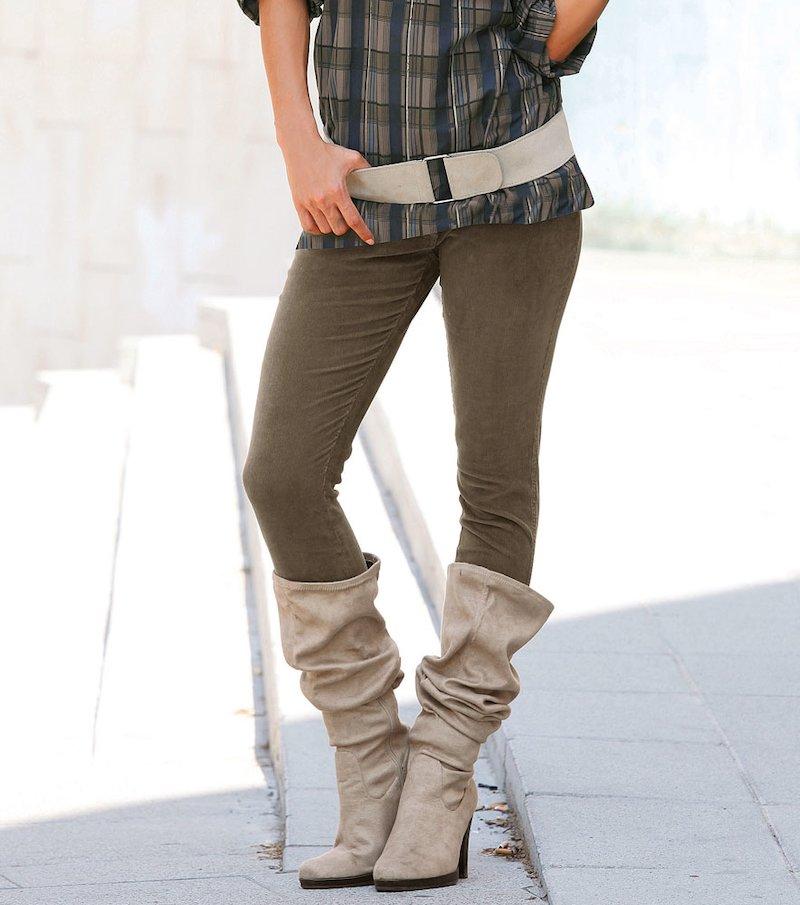 Pantalón largo mujer de micropana
