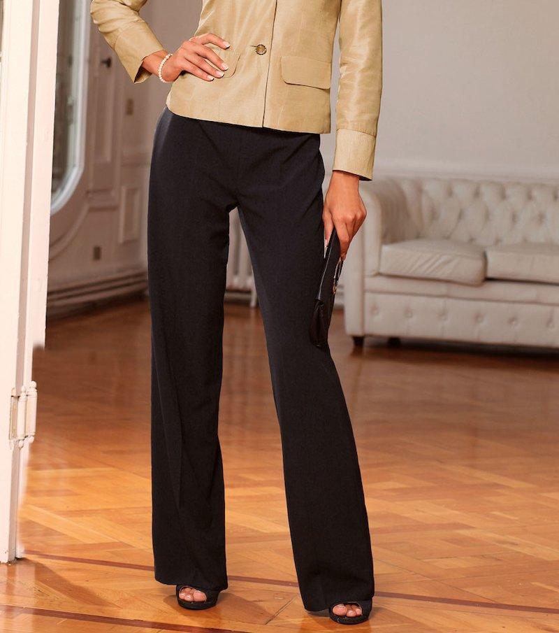 Pantalón largo mujer recto de vestir