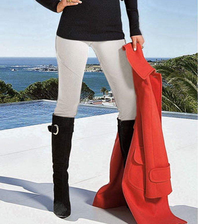 Pantalón legging pitillo mujer elástico - Beige