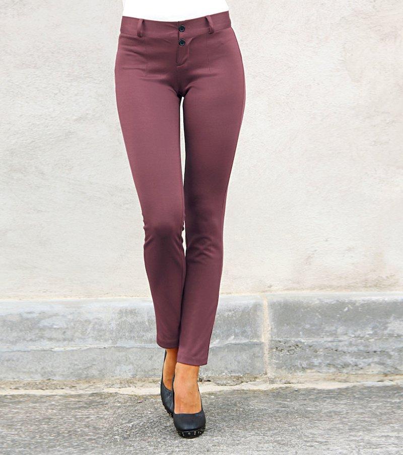 Pantalón largo mujer de punto