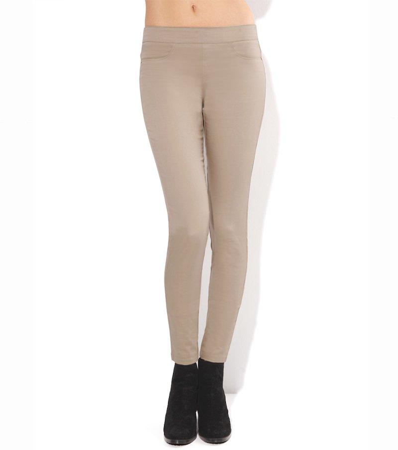 Pantalón largo tregging mujer pitillo elástico