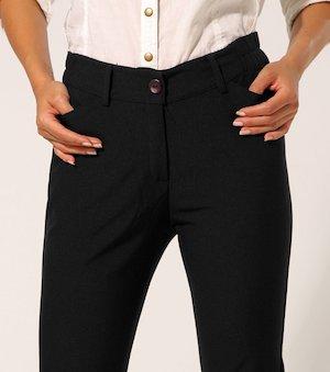Pantalon De Vestir Mujer Corte Recto Tiro Alto