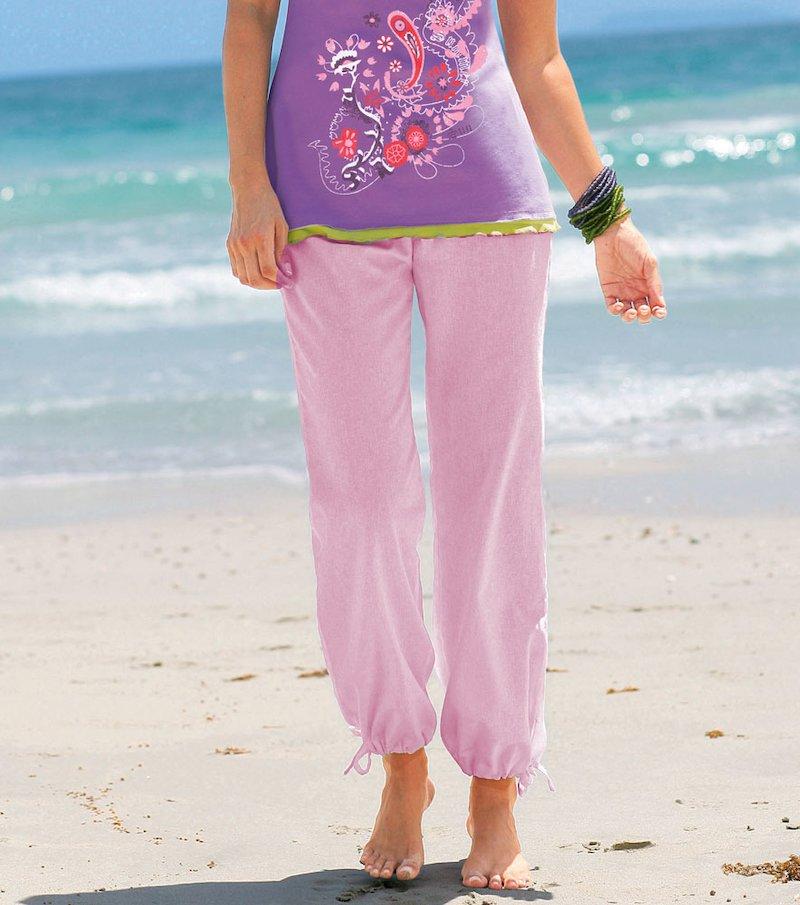 Pantalón largo mujer popelín 100% algodón