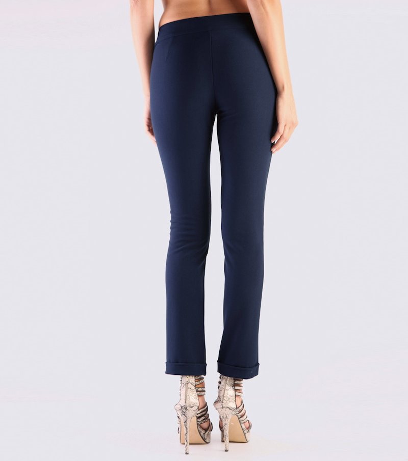 Pantalón mujer pitillo vientre plano - Azul