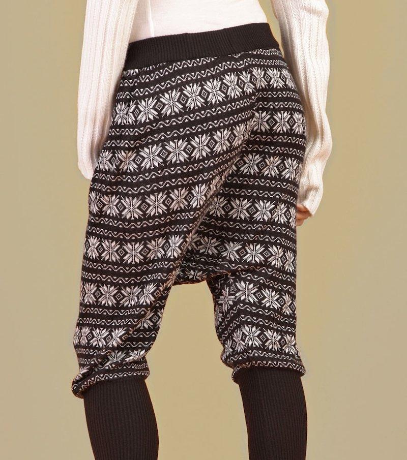 Pantalón señora de punto tricot tipo baggy efecto